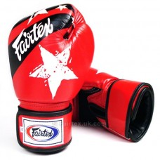 Fairtex Red Nation Print Boxing Gloves