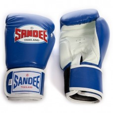 Sandee Two Tone Gloves - Blue/White