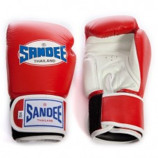 Sandee Two Tone Gloves - Red/White