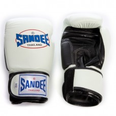 Sandee Two Tone Gloves - White/Black