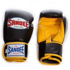 Sandee Two Tone Gloves - Black/Yellow