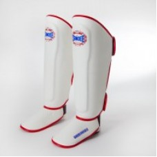 Sandee Classic LTD White, Red & Black Leather Boot Shinguard