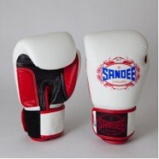 Sandee Classic LTD Velcro White, Red and Black Leather Boxing Glove